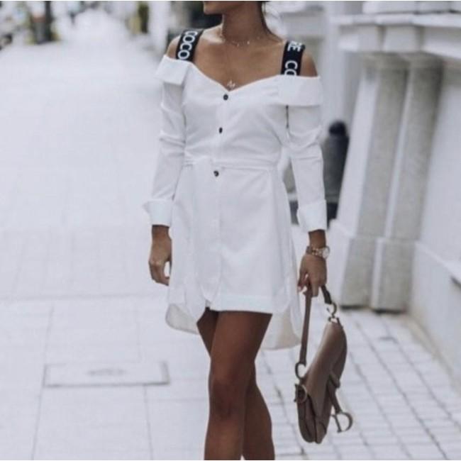 Weißes Kleid - Langarm