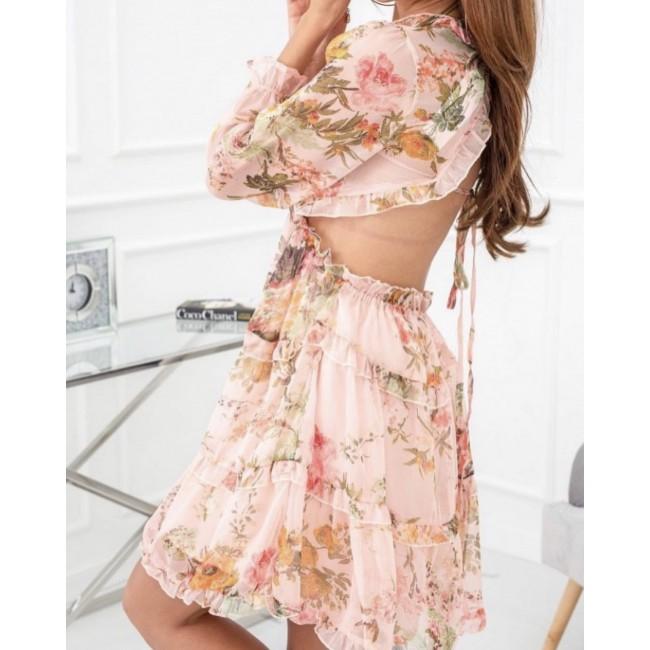 Chiffon Kleid mit Blumen...